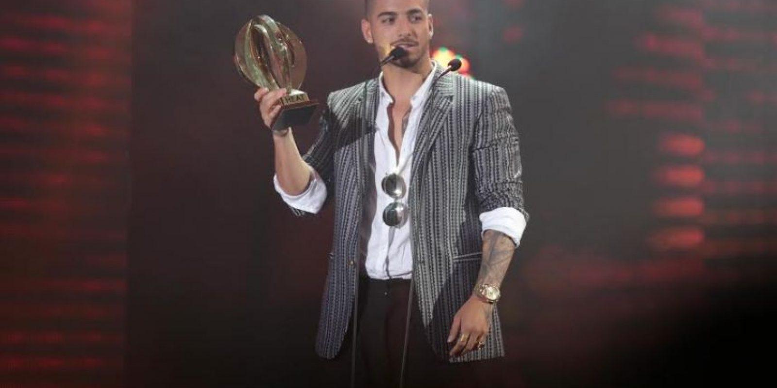El cantante colombiano Maluma recibe premio /Roberto Guzmán