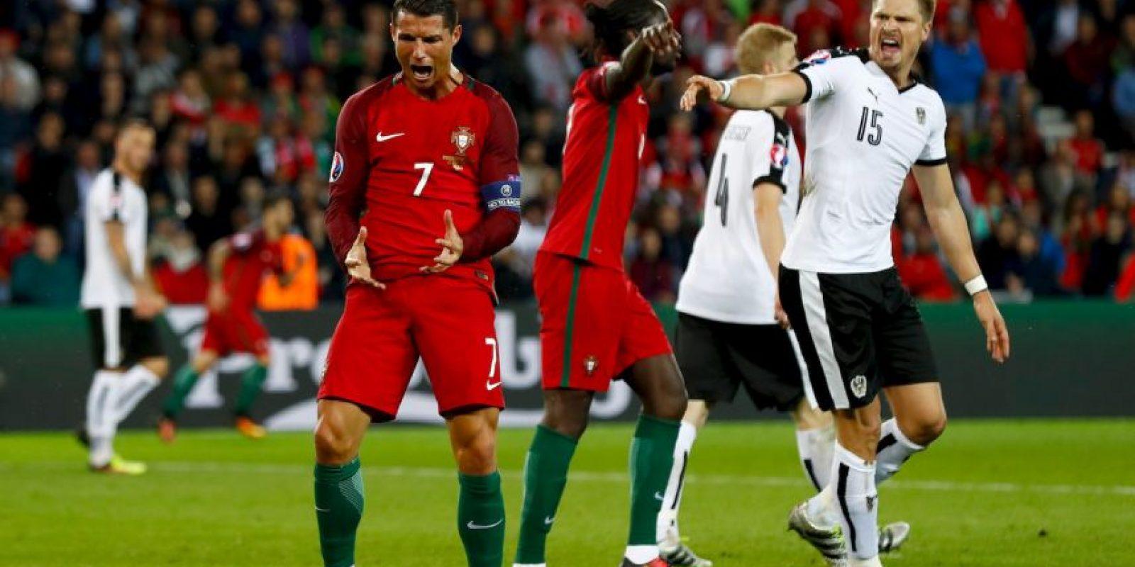 Cristiano Ronaldo no sólo falló un penal ante Austria Foto:Getty Images
