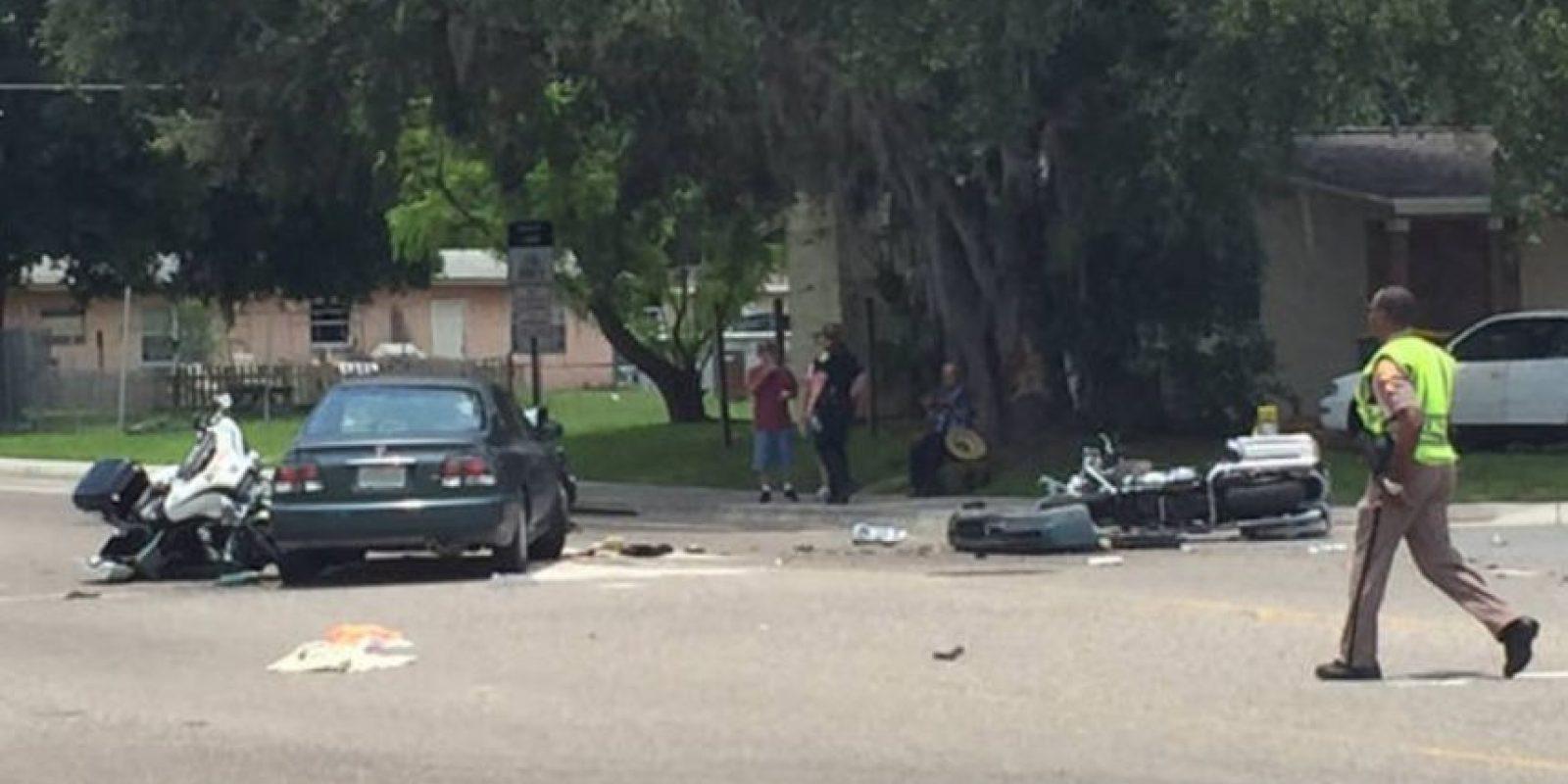 Las primeras imágenes del accidente. Foto:@FsuttonWFTV/Twitter