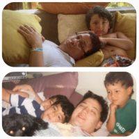 Los hermanos Jonas recordaron sus años de infancia con esta foto con su padre Paul Kevin Jonas. Foto:Instagram @mamajonas