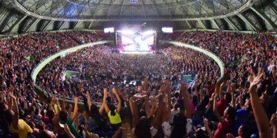 El Palacio de los Deportes lleno a su máxima capacidad Foto:Fuente Externa