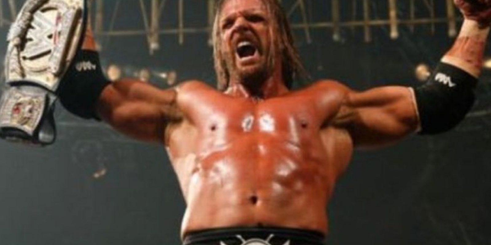 5. Triple H. Pero ese mismo día Randy Orton hizo válida su revancha y reconquistó el título Foto:WWE