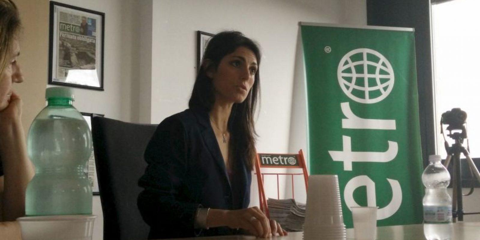 Virginia Raggi visitó las instalaciones de Metro Italia Foto:Marco Carta – Metro Italia