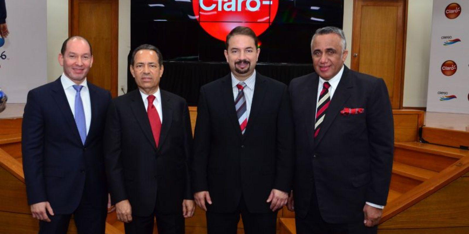 Omar Acosta, Freddy Domínguez, Oscar Peña y Luisín Mejia. Foto:Fuente externa