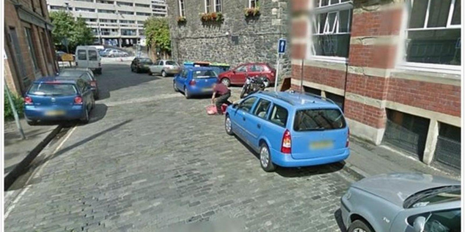 """Esta imagen se trata de una broma de muy mal gusto para """"Street View""""."""