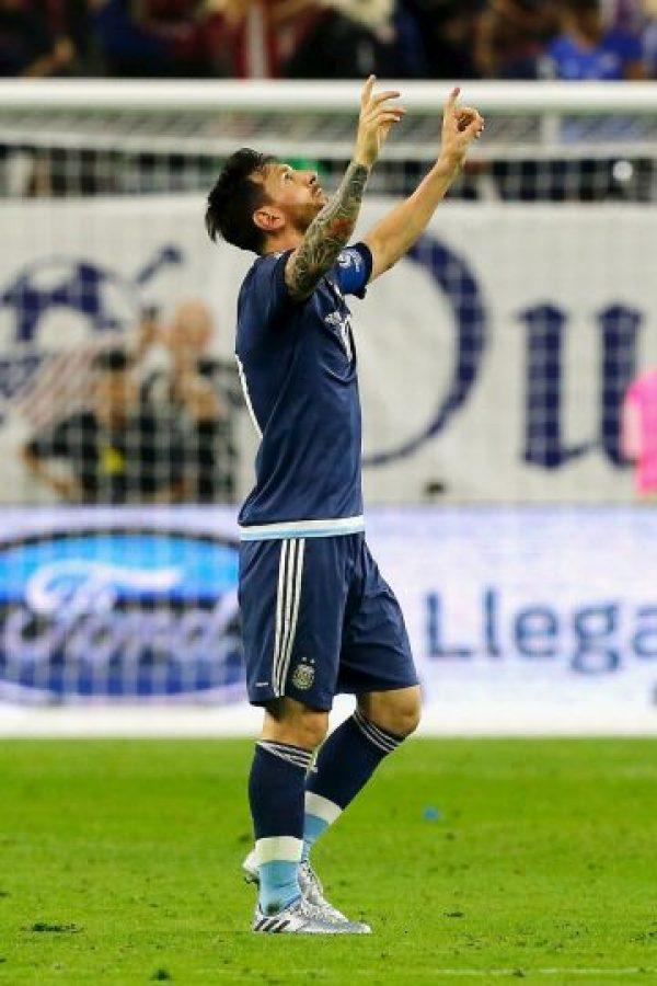 Lionel Messi y Argentina vencieron 4-0 a Estados Unidos Foto:Getty Images