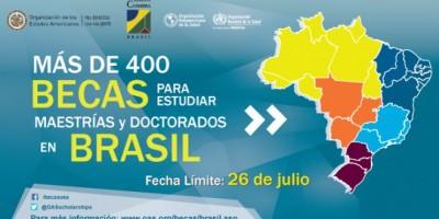 OEA ofrece 400 becas para estudiar maestría y doctorado en Brasil a jóvenes de América Latina