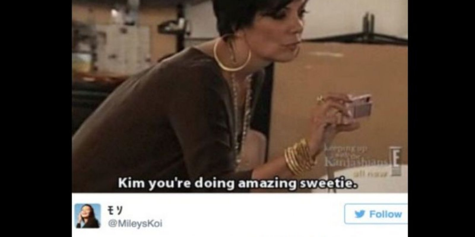 Se burlan de Kris Jenner sin ella tener que ver nada. Foto:vía Twitter