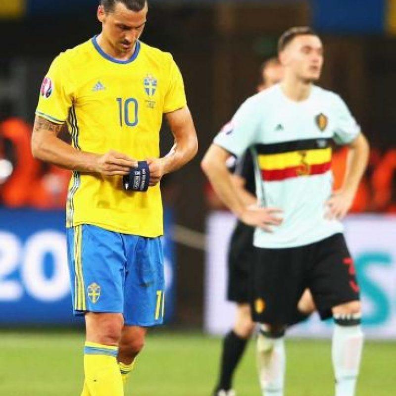 """El último partido de """"Ibra"""" con Suecia fue ante Bélgica, en la fase de grupos de la Euro 2016. Foto:Getty Images"""