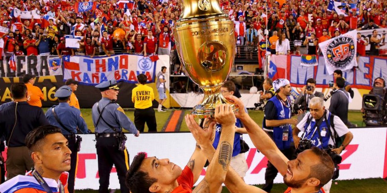 La selección chilena tuvo una notable campaña en la Copa América Centenario Foto:Getty Images