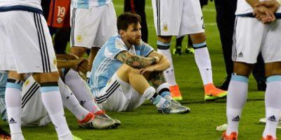 Luego de cuatro finales perdidas, el delantero argentino decidió irse de la selección Foto:AFP