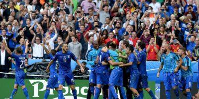 Italia ha sido una de las selecciones más sólidas. Luego de vencer su grupo, en octavos de final venció al actual monarca España Foto:Getty Images
