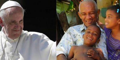 El Papa Francisco bendice a las familias de La Nueva Barquita