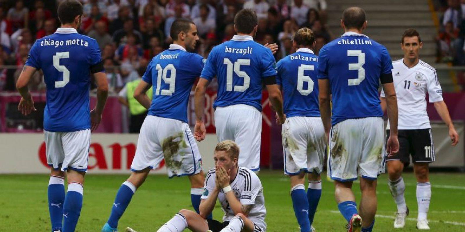En 2012, italianos y alemanes nuevamente se encontraron en una semifinal y ahora fue de Eurocopa ¿El resultado? Italia eliminó a Alemania Foto:Getty Images
