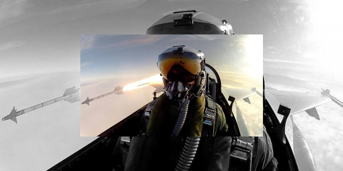 Disparando un misil se tomó un selfie
