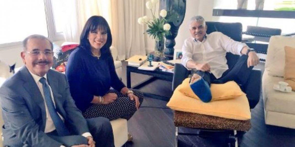 Medina visita a Vargas Maldonado, convaleciente por fractura en una pierna