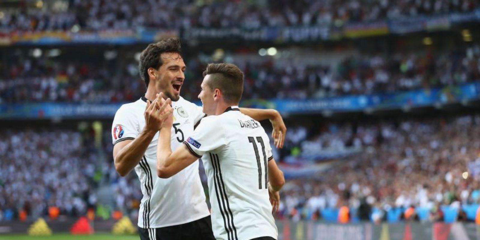 Alemania, en tanto, goleó a Hungría en los octavos de final Foto:Getty Images