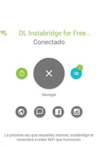 La app los conectará automáticamente. Foto:Instabridge