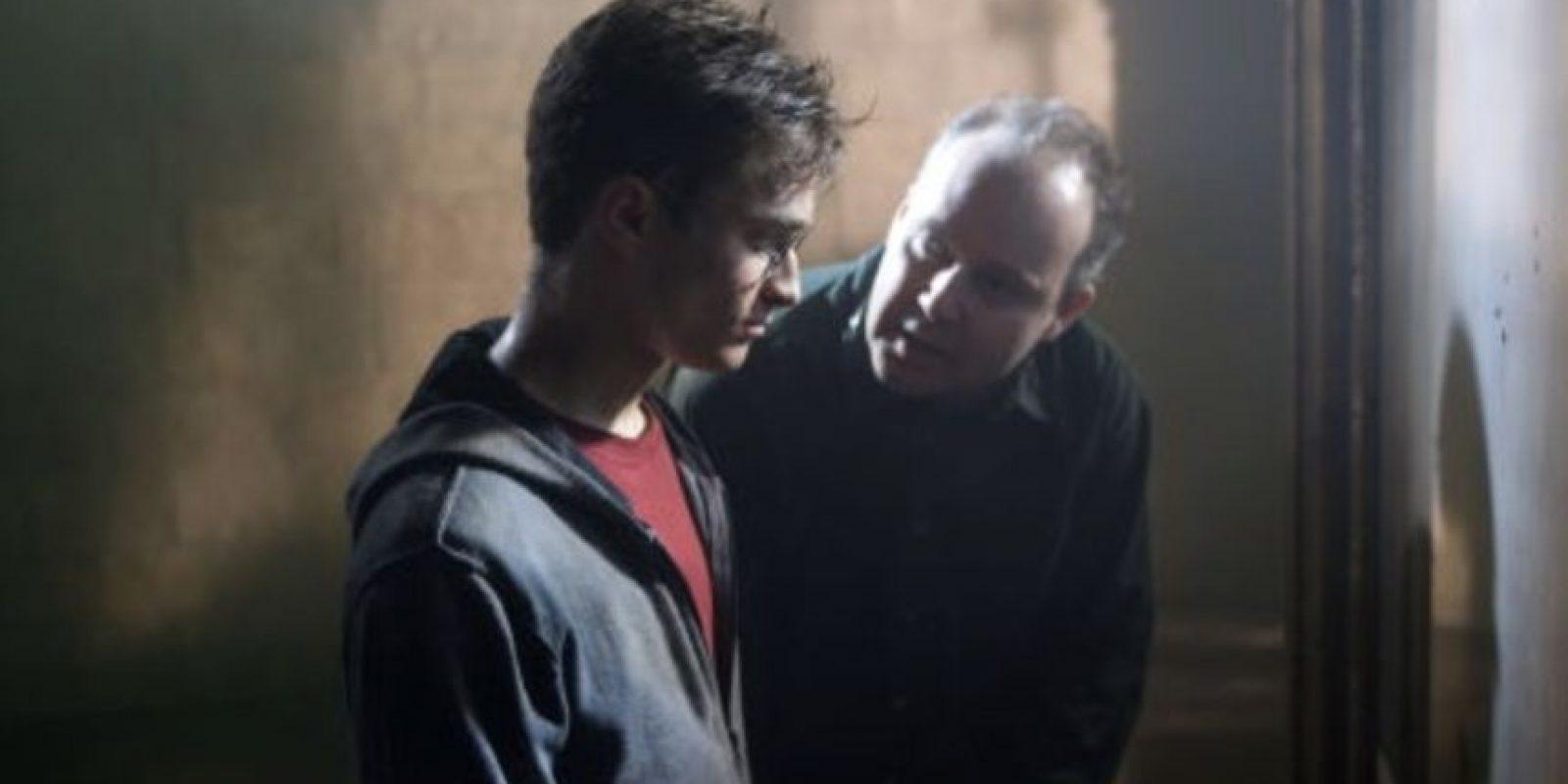 """Daniel Radcliffe en las grabaciones de """"Harry Potter y la Orden del Fénix"""". Foto:IMDB"""