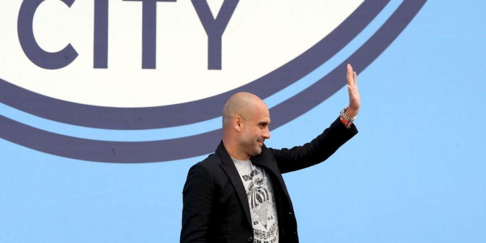 Pep Guardiola causa sensación como nuevo técnico de Manchester City Foto:Getty Images
