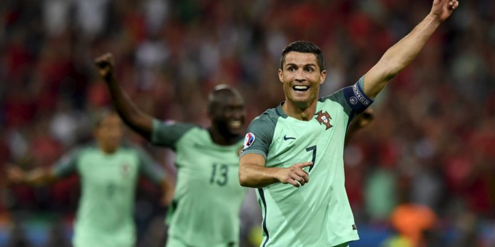 Cristiano Ronaldo alcanzó nueve goles en todas sus actuaciones en la Eurocopa y alcanzó a Michel Platini como máximo goleador histórico Foto:Getty Images
