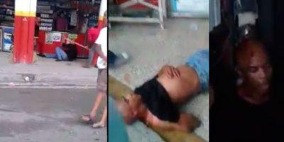 VIDEO: El momento que multitud casi lincha a supuesto ladrón en Herrera