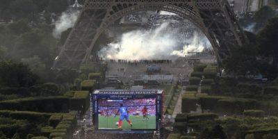 Violentas protestas en la Torre Eiffel durante la final de la Eurocopa