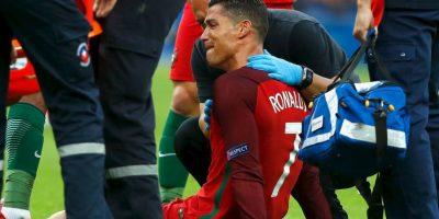 La lesión de Cristiano Ronaldo marcó la final tras lesionarse en el minuto 25 Foto:Getty Images