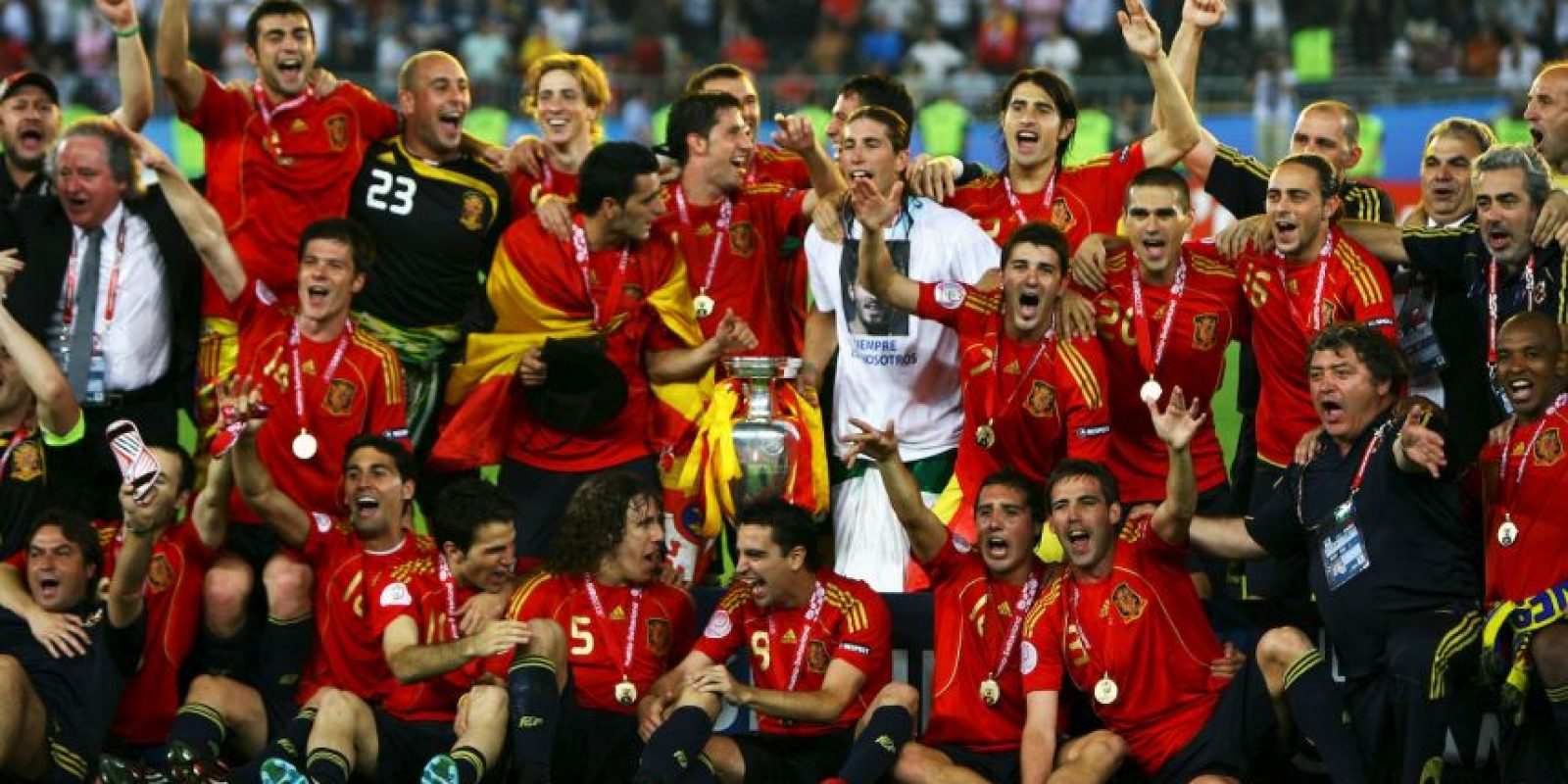España – 3 títulos (1964, 2008, 2012) Foto:Getty Images