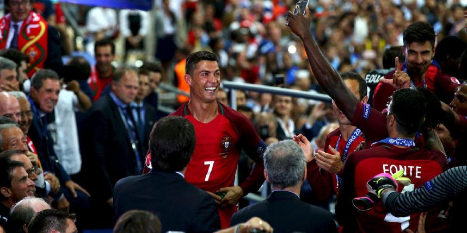 Cristiano Ronaldo fue felicitado por su ex técnico del Manchester United Foto:Getty Images