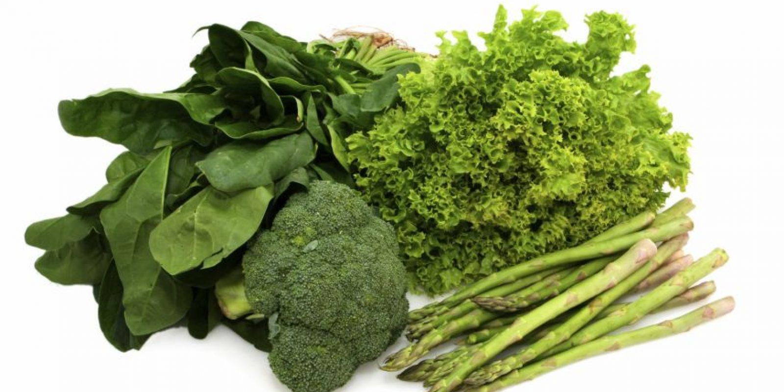 Verduras de hojas verdes Foto:Fuente Externa