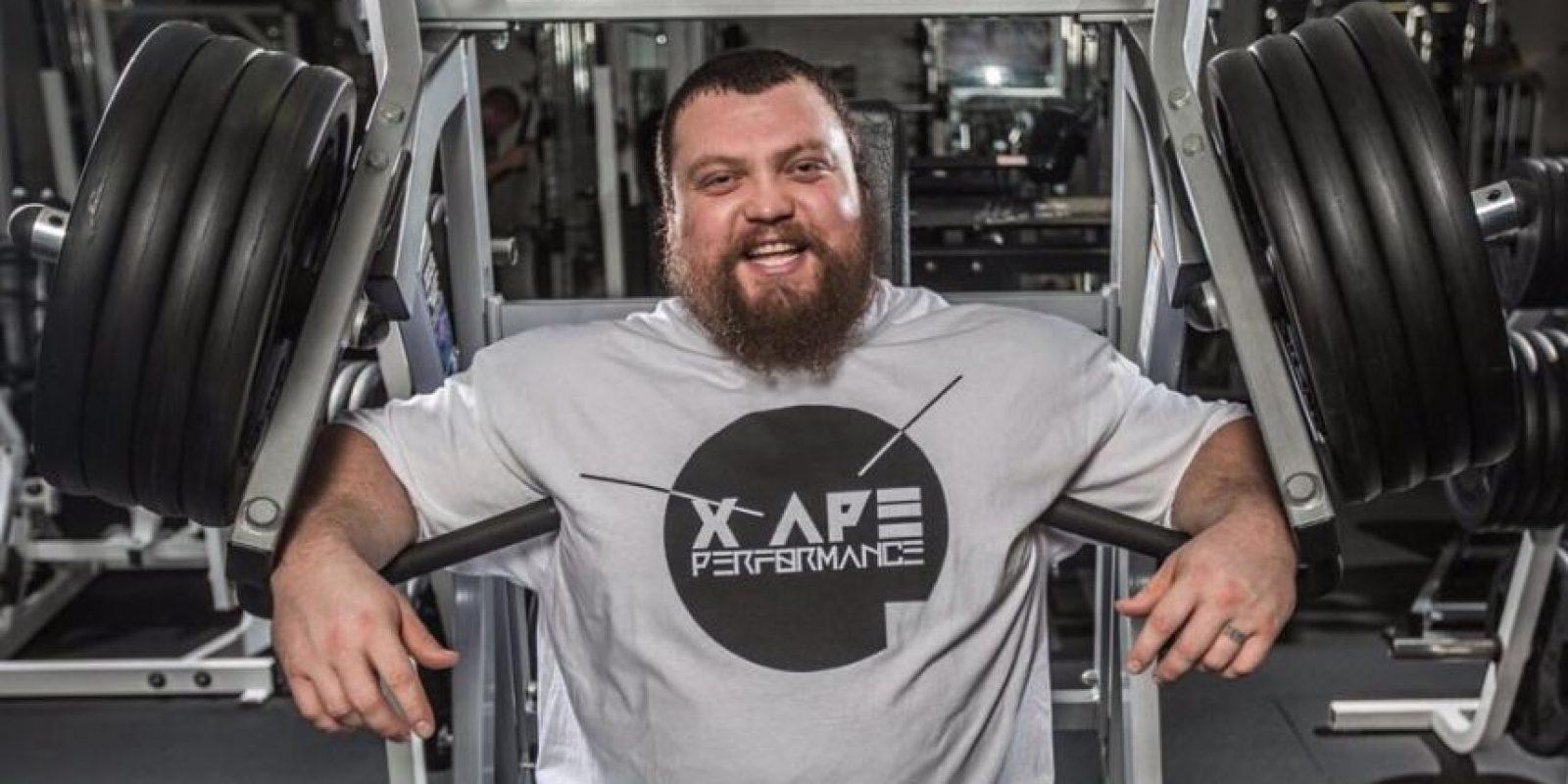 Eddie Hall impuso una marca de 500 kilogramos en peso muerto Foto:Vía instagram.com/eddie_hall_strong
