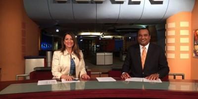Lisette Selmán y Miguel Susana, presentadores estelares noticiero de Telecentro
