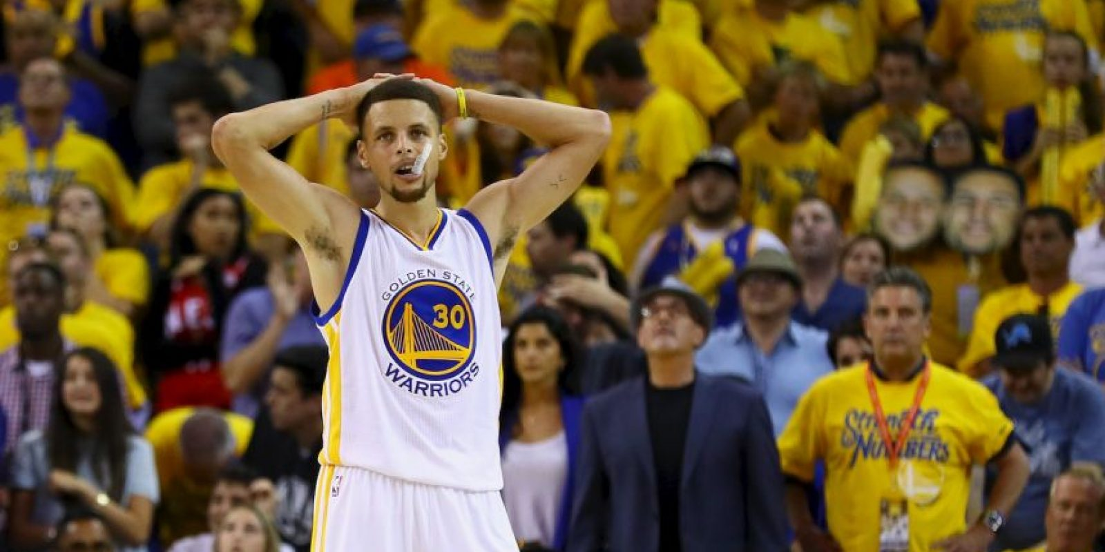 Stephen Curry. El último dos veces MVP de la NBA prefirió descansar Foto:Getty Images