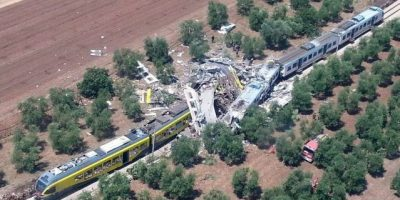 Fatal accidente de trenes en Italia
