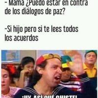 Este meme es en referencia a los acuerdos de paz realizados en Colombia. Foto:Facebook