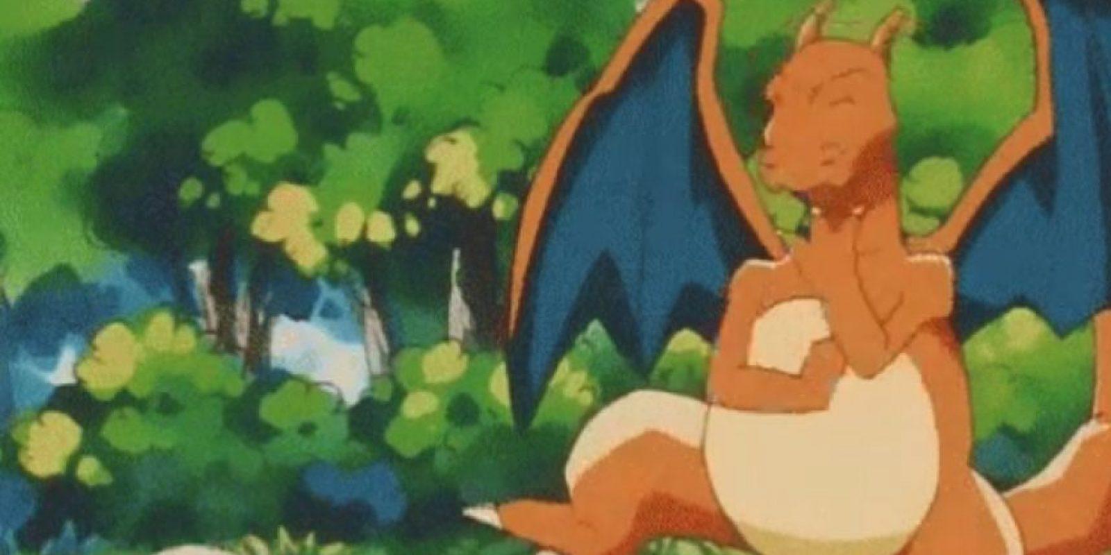 Dos Pokémon hicieron que la gente se volviera loca en Central Park, ubicado en Nueva York: se trata de Charizard, criatura tipo fuego y última evolución de Charmander. Foto:Oriental Light and Magic