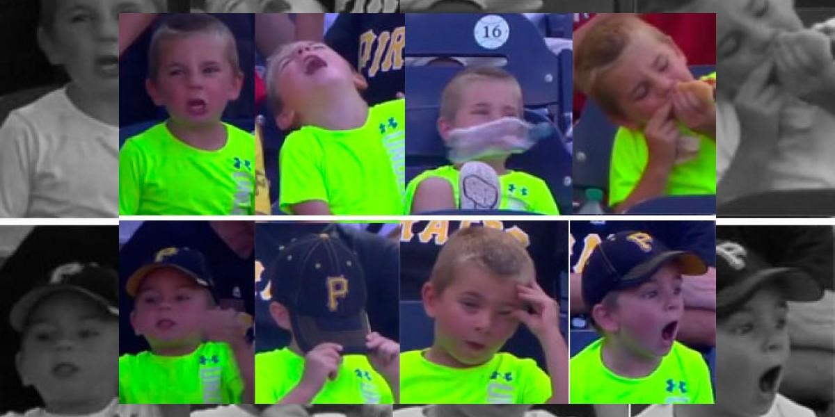 VIDEO: Así se la pasa un niño durante un partido de 18 entradas