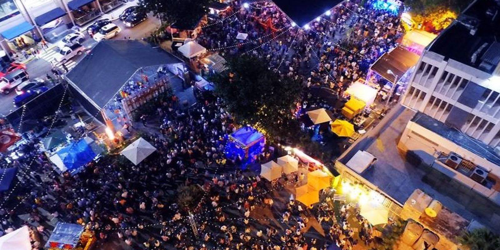 Panorámica del Bocao Food Fest en la noche del sábado. Foto:Facebook Tropigas
