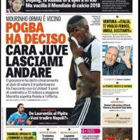 La oferta del United por Pogba se tomó los medios europeos Foto:La Gazzetta dello Sport