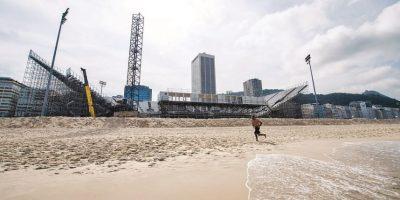 La arena de vóleibol de playa es el más grande en el borde de Copacabana, con capacidad para 12.000 personas Foto:Fuente externa