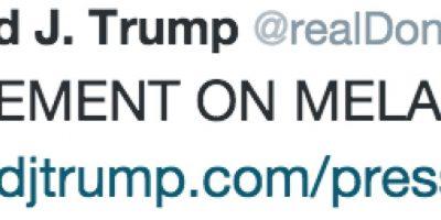 Fue el propio Donald Trump quien publicó el comunicado de su escritora de campaña. Foto:Twitter @realDonaldTrump