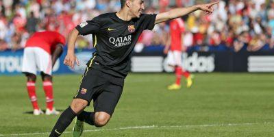 En la temporada 2015/2016, el delantero jugó 15 partidos en la Liga de España y marcó 3 goles Foto:Getty Images