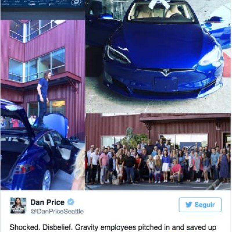 La reacción de Dan Price en redes sociales Foto:Twitter