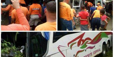 Al menos 19 heridos en accidente de autobús en la autopista Duarte