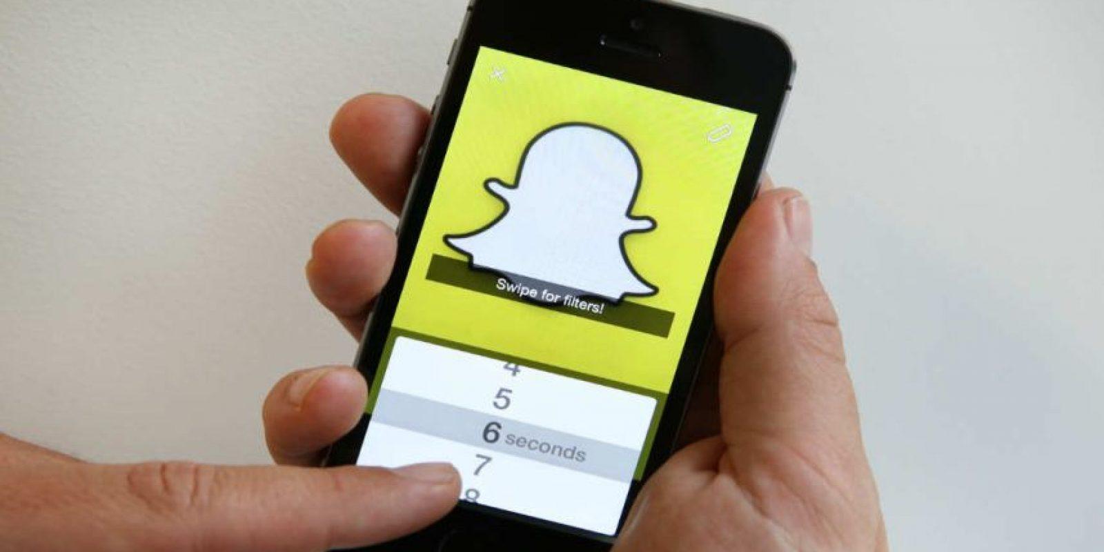 Snapchat es una aplicación popular entre jóvenes. Foto:Getty Images