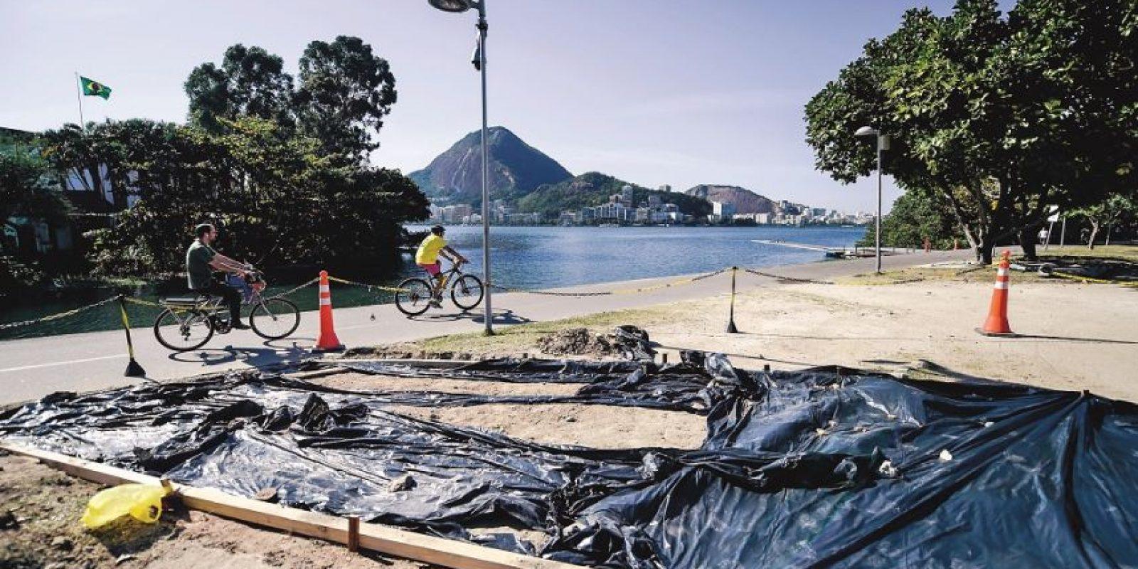 Las obras están todavía están en marcha en la Laguna Foto:Metro