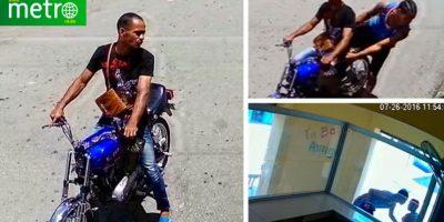 VIDEO: El momento en que dos ladrones asaltan una banca en SDE