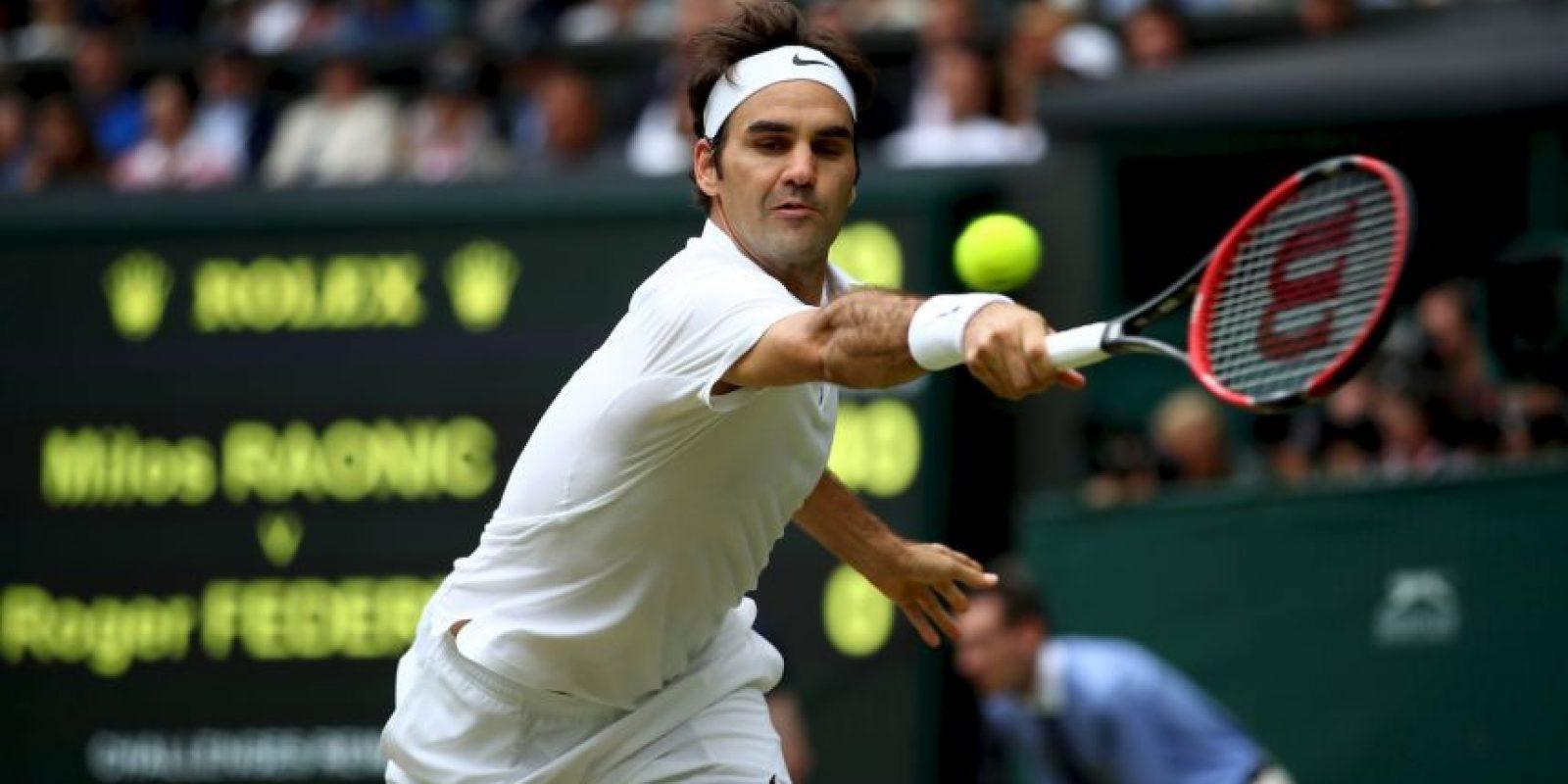 Roger Federer. Se bajó de los Juegos Olímpicos de Rio 2016 por una lesión a la rodilla Foto:Getty Images