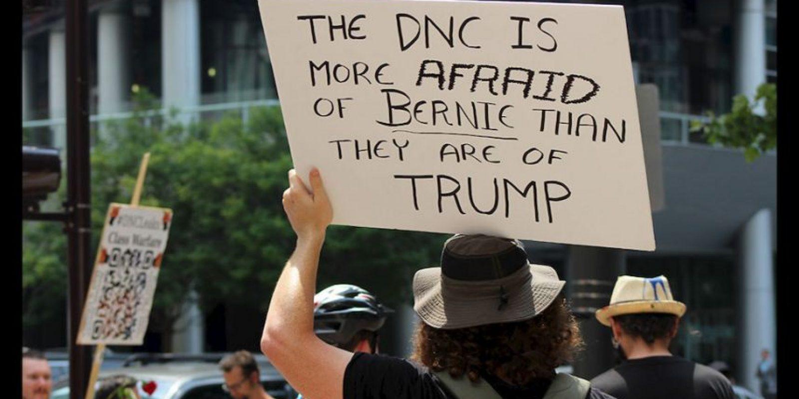 """""""Tenemos que elegir a Hillary Clinton y Tim Kaine"""", afirmó Sanders en un encuentro esta tarde con sus delegados. La respuesta fue un rotundo abucheo. Foto:Publimetro"""